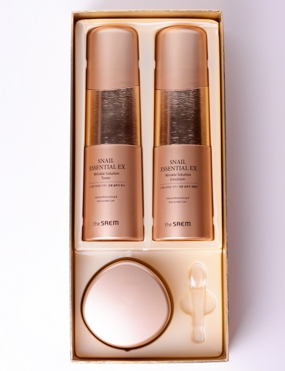 Набор от The Saem snail essential ex wrinkle solution skin care 2 set